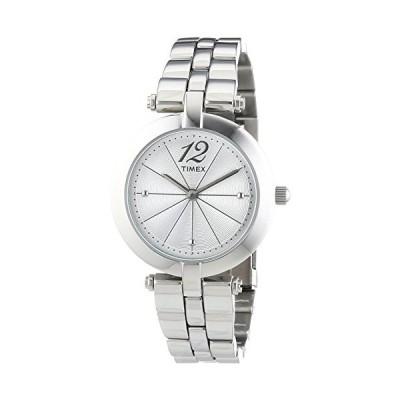 腕時計 タイメックス レディース T2P549 Timex Women's Quartz Watch with Silver Dial Analogue Displ