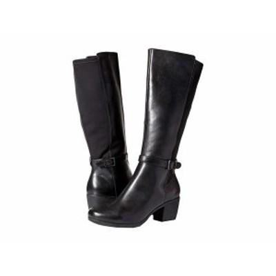 クラークス レディース ブーツ・レインブーツ シューズ Un Lindel Hi Black Leather/Textile Combi