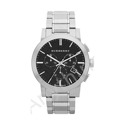 【新品】Swiss Silver Black Date Dial 42mm Men Chronograph Stainless Steel Wrist Watch The City BU9351