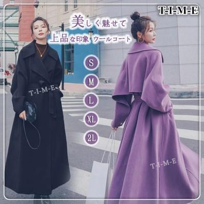 ウールコートレディース 中・長セクション 2020 冬 新しい  気質 大人気韓国ファッション  厚手  ウールコート