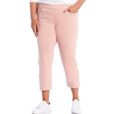 ウェストボンド レディース カジュアルパンツ ボトムス Plus Size the HIGH RISE fit Skinny Cropped Pants Mellow Rose
