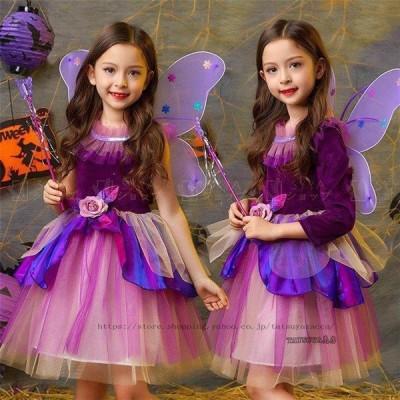 ハロウィン 女の子 衣装 魔女 子供  仮装 キッズ ワンピース 子供 コスチューム 魔法使い キッズ 子供 ワンピ 精霊 女の子 妖精