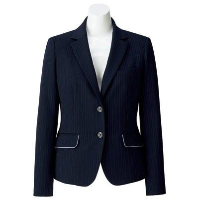 ボンマックス BONMAX オフィスウェア Rigel AJ0249-28 ジャケット ネイビー×ブルー (5〜19号) 春夏 秋冬 事務服 仕事着 通勤服