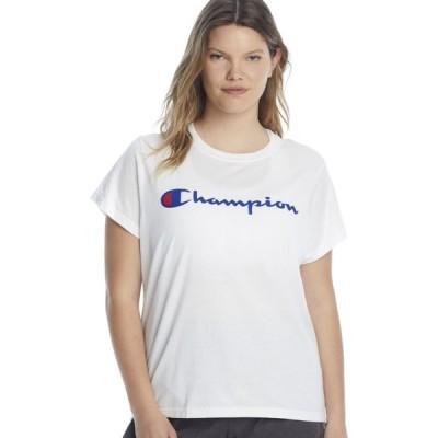 チャンピオン Champion レディース Tシャツ 大きいサイズ トップス Plus Size Classic Graphic Tee White