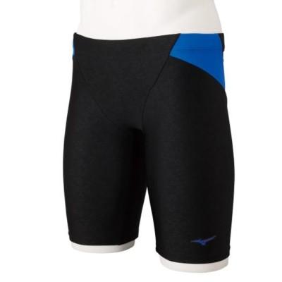 MIZUNOスイム・競泳競泳水着 水泳 アクアフィットネス用ハーフスパッツ N2JB160192ブラック×ブルー