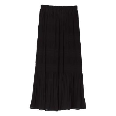 【ユアーズ】 マジョリカプリーツナロースカート レディース ブラック S ur's