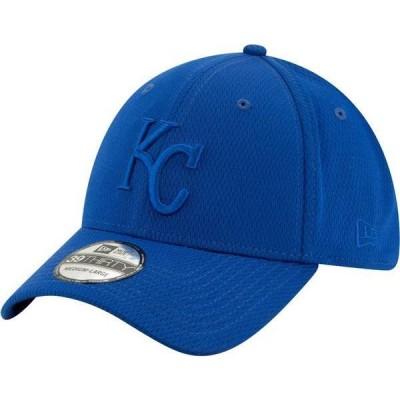 ニューエラ メンズ 帽子 アクセサリー New Era Men's Kansas City Royals Blue 39Thirty Perftone Stretch Fit Hat