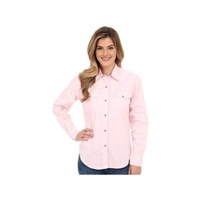 Roper Lu002FS Solid Basic Snap Front レディース Shirts & Tops Pink