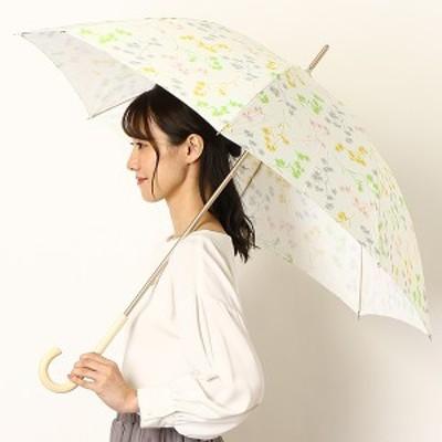 エスタ(estaa)/雨傘(長傘)【手開き/UVケア】にじみフラワー/花柄(婦人/レディース)