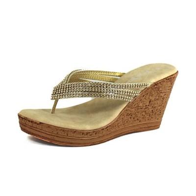 ネイチャー ブリーズ レディース Warrant 03 ゴールド シンセティック Sandals 6 B(M) US(海外取寄せ品)