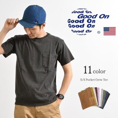 GOOD ON(グッドオン) ショートスリーブ ベーシック ポケット クルーネック Tシャツ / メンズ / 半袖