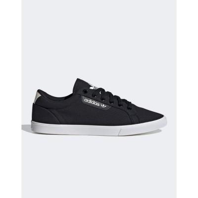 アディダスオリジナルス レディース スニーカー シューズ adidas Originals Sleek Lo sneakers in black Black