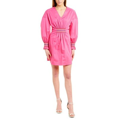 デレクラムテンクロスバイ ワンピース トップス レディース Derek Lam 10 Crosby Katerina A-Line Dress vibrant pink
