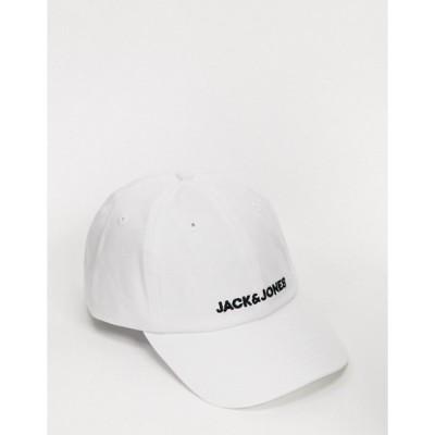 ジャック アンド ジョーンズ メンズ 帽子 アクセサリー Jack & Jones Baseball Cap in white