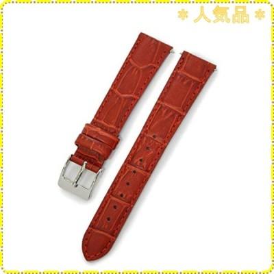 CASSIS[カシス] カーフ 型押し 時計ベルト 裏面防水素材 AVALLON アバロン 16mm レッド 交換用工具付き X1022238083016M
