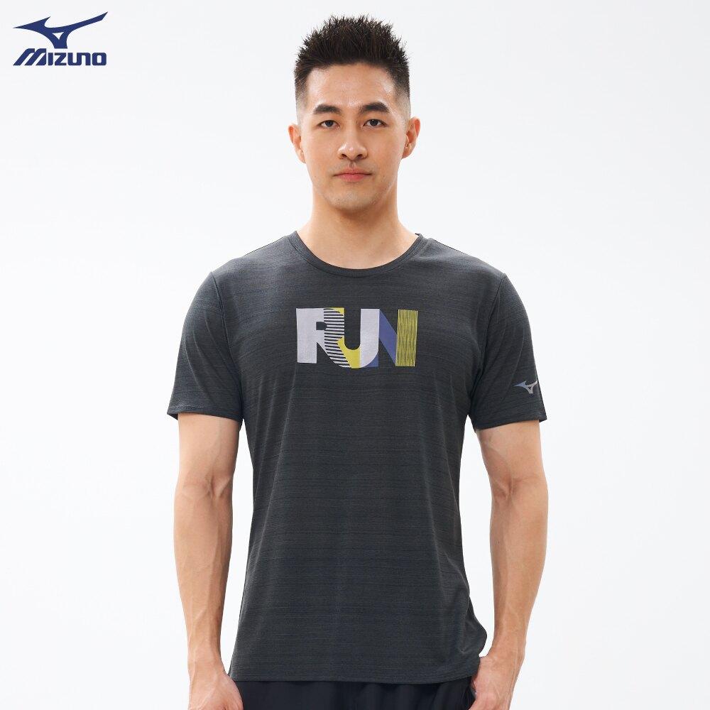 男款路跑短袖T恤 J2TA100217(煙灰藍)【美津濃MIZUNO】