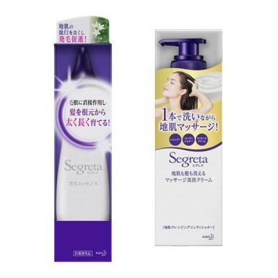 Segreta(セグレタ)地肌ケアセット 地肌も髪も洗える マッサージ美容クリーム 360ml +育毛エッセンス 150ml 花王