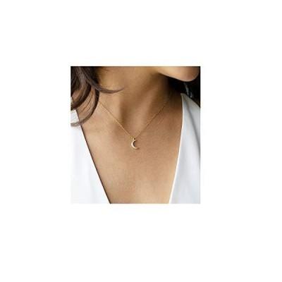 Fremttly レディース ネックレス シンプル 14Kゴールド 繊細 上品 サークル 星 ネックレス 細いサークル ペンダン?