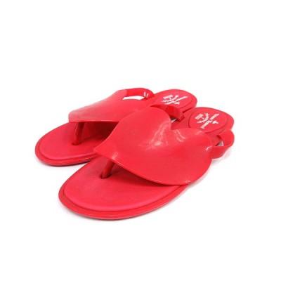 【中古】ヴィヴィアンウエストウッド Vivienne Westwood melissa サンダル フラット トング アングロマニア ANGLOMANIA 24 赤 /SR レディース 【ベクトル 古着】