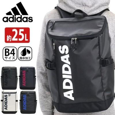 リュック adidas アディダス バックパック ビッグロゴ リュックサック 女子 男子 25L スクエア デイパック ロゴ メンズ ブランド 撥水 ボックス A4 B4
