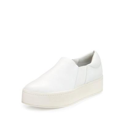 ヴィンス レディース スニーカー シューズ Warren Leather Platform Skate Sneakers, Plaster White