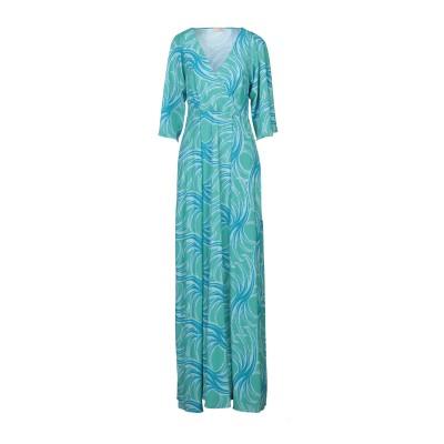 MAESTA ロングワンピース&ドレス グリーン 44 PES - ポリエーテルサルフォン 100% ロングワンピース&ドレス