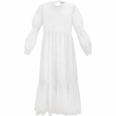 モリー ゴダード Molly Goddard レディース パーティードレス ティアードドレス ワンピース・ドレス Evangeline tiered cotton-poplin mi