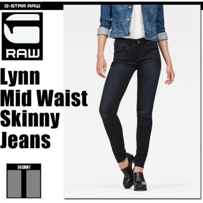 G-STAR RAW (ジースターロゥ) Lynn Mid Waist Skinny Jeans (リンミッドウエストスキニージーンズ) ストレッチスキニージーンズ