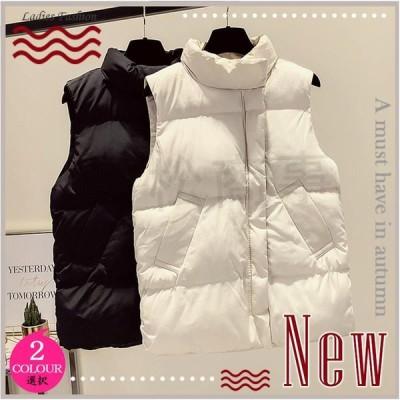 ベスト レディース 中綿ベスト ダウンベスト 中綿ジャケット 防寒アウター フード付き ダウンコート 厚手 保温 防寒 防風 冬