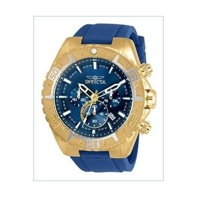 Invicta Aviator Men 49mm Stainless Steel Gold Blue dial Quartz, 30753並行輸入品