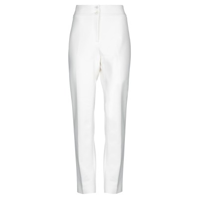 VIA MASINI 80 パンツ ホワイト 48 レーヨン 62% / ナイロン 33% / ポリウレタン 5% パンツ