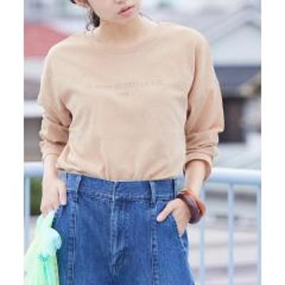 ビスシアーロゴプリントゆるキャミ付ロングTシャツ【お取り寄せ商品】