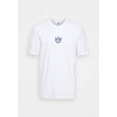 アディダスオリジナルス Tシャツ メンズ トップス TEE UNISEX - Print T-shirt - white/crew blue