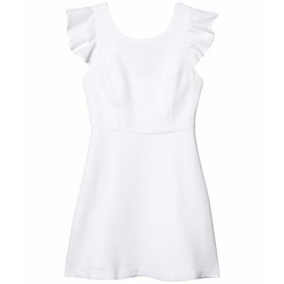 BCBジェネレーション ワンピース トップス レディース Cocktail Back Ruffle Woven Dress Optic White