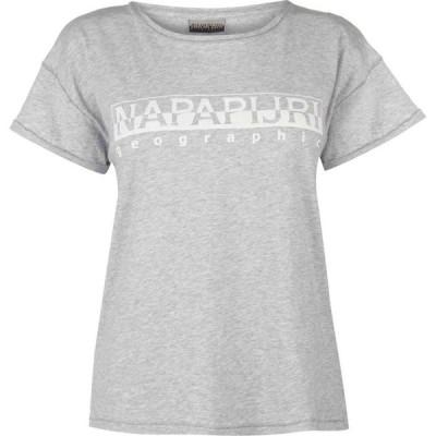 ナパピリ Napapijri レディース Tシャツ トップス Sevora T Shirt Light Grey