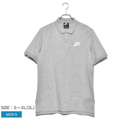 ナイキ NIKE ポロシャツ NSW CE POLO MATCHUP JSY 909752 メンズ トップス カジュアル シンプル 運動 スポーツ スポーティ クラシカル グレー