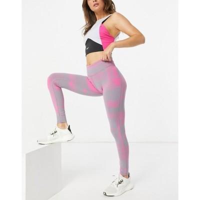 リーボック レディース レギンス ボトムス Reebok ts lux legging 2.0 deconstr in pink