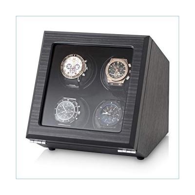 Quad Watch Winder with Motor-Stop Option and 4 Predefined Programs (Black Veneer)並行輸入品