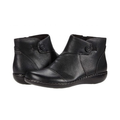 Clarks クラークス レディース 女性用 シューズ 靴 ブーツ アンクル ショートブーツ Ashland Holly - Black Leather