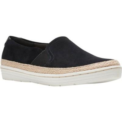 クラークス スリッポン・ローファー シューズ レディース Marie Sail Slip On Sneaker (Women's) Black Suede
