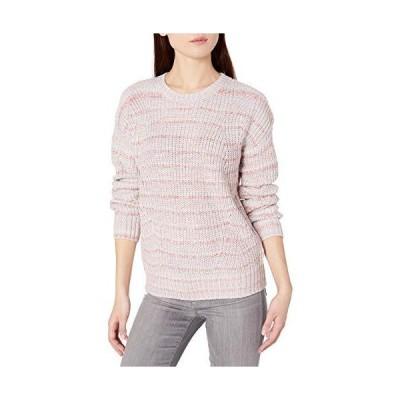 Lucky Brand Women's Marled Scoop Neck Sweater, Pink Multi, Small並行輸入品 送料無料
