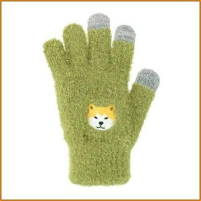 スマホ手袋 秋田犬 17319631077 ▼つぶらな瞳が可愛いワンコのもふもふスマホ手袋