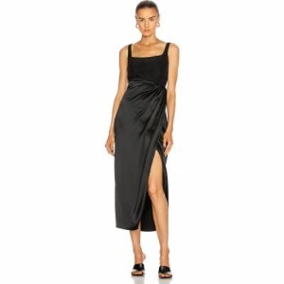 ブランドン マクスウェル Brandon Maxwell レディース パーティードレス Satin Bustier Cocktail Dress With Wrap Skirt