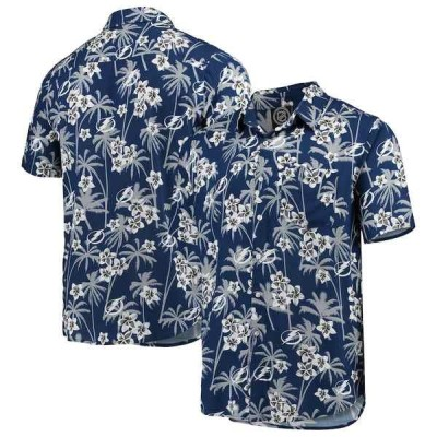 フォコ シャツ トップス メンズ Tampa Bay Lightning Floral Button-Up Shirt Blue