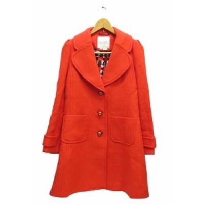 【中古】ケイトスペード KATE SPADE 三つボタン コート ジャケット 長袖 NJMU2809 4-A L 赤 レッド ● 201025 0040
