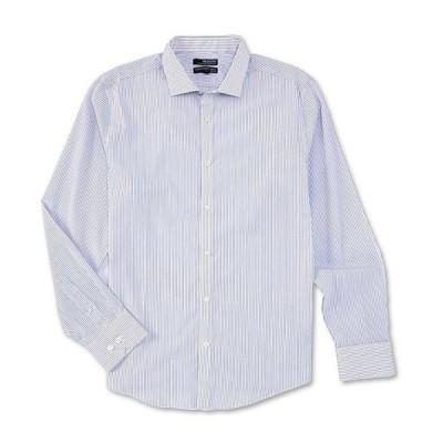 ムラノ メンズ シャツ トップス Big & Tall Wardrobe Essentials Stripe Long-Sleeve Woven Shirt