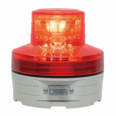 日恵製作所(NIKKEI) VL07B-003AR 赤 電池式小型LED回転灯 ニコUFO 手動