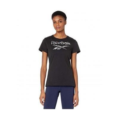 Reebok リーボック レディース 女性用 ファッション Tシャツ Training Essentials Graphic Stack Logo Tee - Black