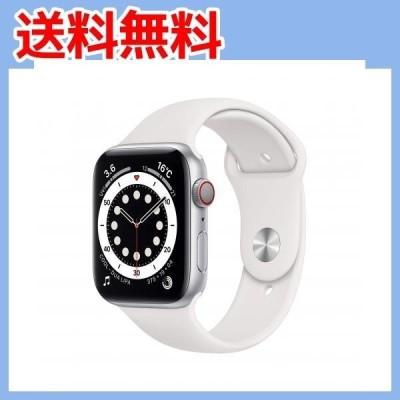 最新 Apple?Watch Series 6(GPS + Cellularモデル)- 44mmシルバーアルミニウムケー・・・