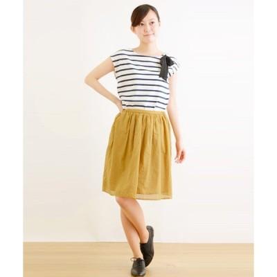 スカート 80/LAWN ギャザースカート